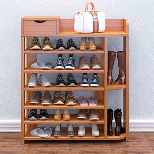 IVHJLP Weiß Großen Schuh Storage Rack for Schuhe aus stapelbare Ständern Multifunktions Hoch Vertikal Platzsparend Regal 6 Tier Platzsparend (Color : Brown)