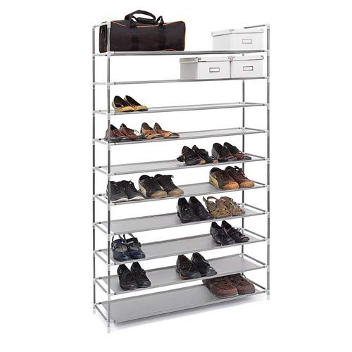 Schuhständer Schuhschrank Prim bis 12 Paar Schuhe Schuhregal Metall ausziehbar