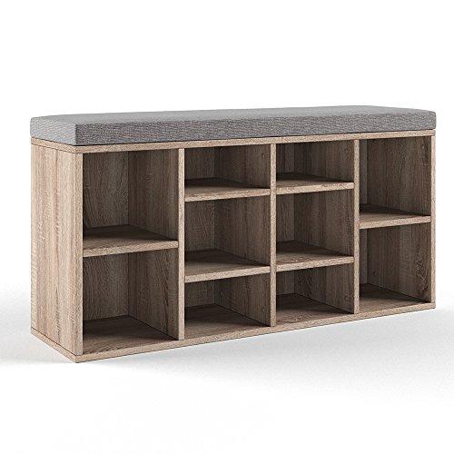 sch ner schuhschrank eiche ge lt oder s gerau. Black Bedroom Furniture Sets. Home Design Ideas