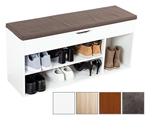 schuhregal mit sitzbank schuhbank. Black Bedroom Furniture Sets. Home Design Ideas