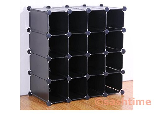 New 16Paar weiß Interlocking Cube Schuh Organizer Storage Rack Display Ständer b3bewtVzUL