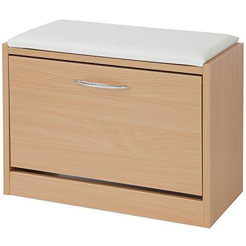 schuhbank buche kernbuche. Black Bedroom Furniture Sets. Home Design Ideas