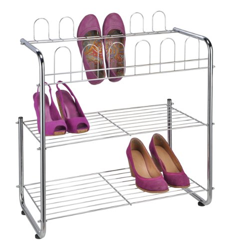 schuhregale aus metall stapelbar f r flur und keller. Black Bedroom Furniture Sets. Home Design Ideas