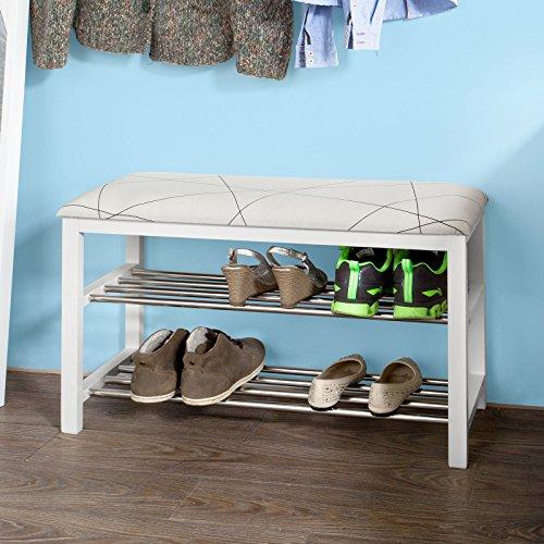 robuste schuhbank aus holz. Black Bedroom Furniture Sets. Home Design Ideas