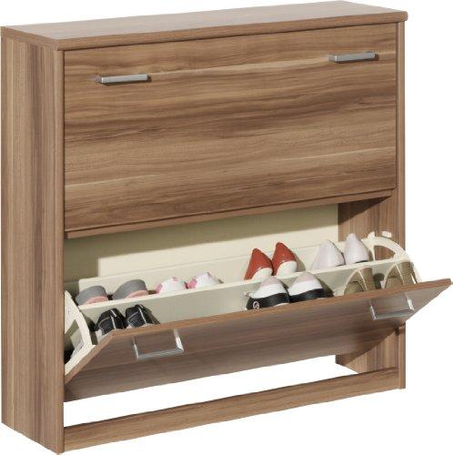 schuhschrank nussbaum wei. Black Bedroom Furniture Sets. Home Design Ideas