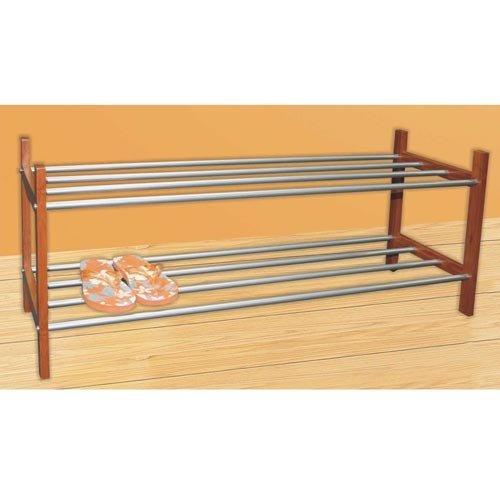 Schuhregal Holz Metall Stapelbar ~ Holz Schuhregal  aus Akazienholz Zedernholz oder Walnuss