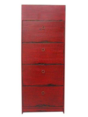 hoher vier faecher braunrotes pinienholz. Black Bedroom Furniture Sets. Home Design Ideas
