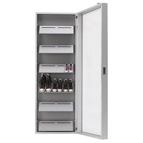 Ikea Friheten Black Leather ~ Kristalia Foot Box Hänge Schuhschrank, aluminium Spiegel 190x65x20cm
