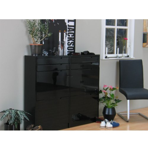 schrank schwarz hochglanz best wohnkultur schrank schwarz hochglanz with schrank schwarz. Black Bedroom Furniture Sets. Home Design Ideas