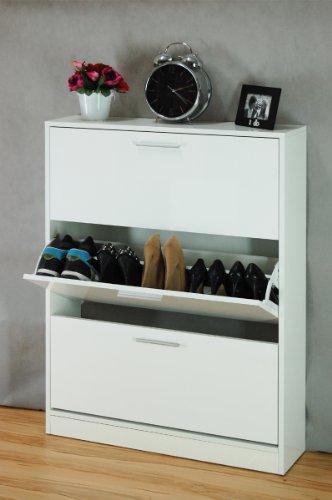 schuhschrank wei matt oder hochgl nzend. Black Bedroom Furniture Sets. Home Design Ideas