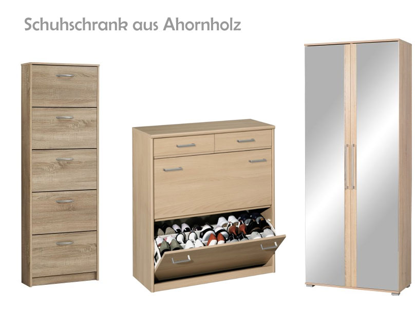 schuhschrank ahorn. Black Bedroom Furniture Sets. Home Design Ideas