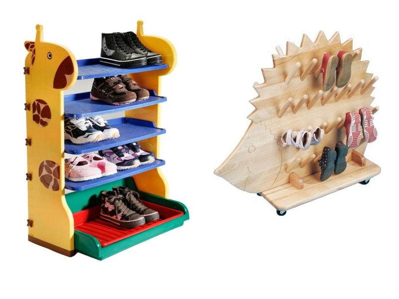 Kinder Schuhregal
