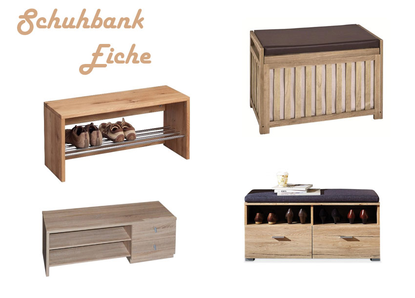 schuhbank eiche. Black Bedroom Furniture Sets. Home Design Ideas