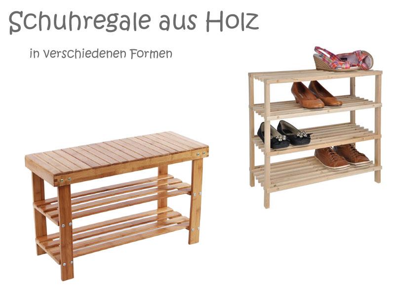 Holz Schuhregal