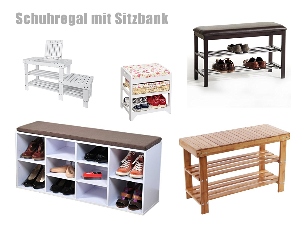schuhregal mit sitzbank schuhbank. Black Bedroom Furniture Sets. Home Design Ideas