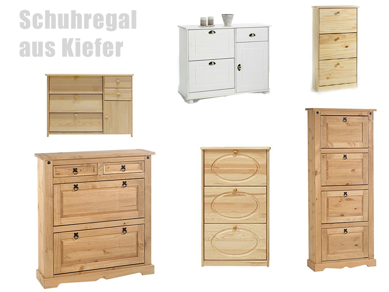 schuhschrank kiefer lackiert o ge lt. Black Bedroom Furniture Sets. Home Design Ideas